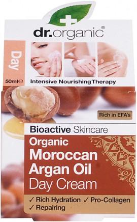 Dr.Organic Moroccan Argan Oil Day Cream Αντιρυτιδική Κρέμα Ημέρας με Έλαιο Αργκάν 50ml