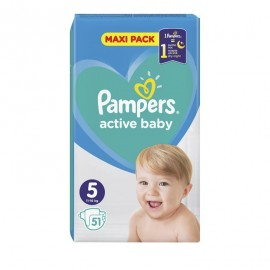 Pampers Active Baby Dry Maxi Pack No 5 (11-16Kg) 51Τμχ