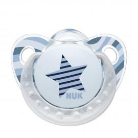 Nuk Trendline Adore Πιπίλα Σιλικόνη Αστέρι Μπλε 6-18m 1τμχ
