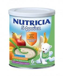 Nutricia Κρέμα 5 Φρούτα 300γρ, 6Μηνών +