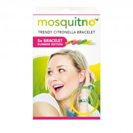 MosquitNo Trendy Citronella Regular Bracelets 5-Pack Summer- για ενήλικες και παιδιά