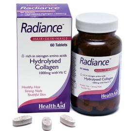 Health Aid Radiance COLLAGEN, με Vitamin C & Zink, Κολλαγόνο για Όμορφα Μαλλιά, Νύχια & Υγιές Δέρμα 60 tabs