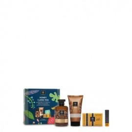 Apivita Promo Honey I Love You, Royal Honey Αφρόλουτρο 300ml & Κρέμα Σώματος 150ml & Σαπούνι 125gr & Lip Care 4.4gr