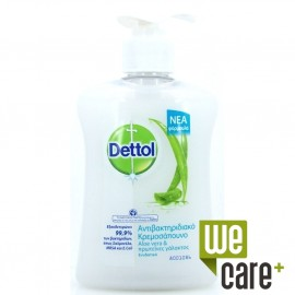 Dettol Αντιβακτηριδιακό Κρεμουσάπουνο Aloe Vera & Πρωτεϊνες Γάλακτος - Ενυδατικό 250ml