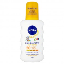 Nivea Sun Kids Protect & Sensitive Παιδικό Αντηλιακό/Ενυδατικό Σπρέι για Σώμα/Πρόσωπο 200ml