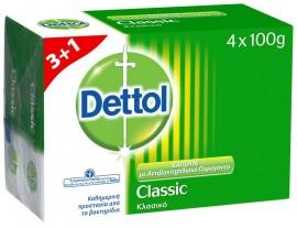 Dettol Σαπούνι Κλασικό 100gr 3+1 ΔΩΡΟ