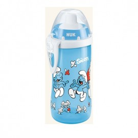 Nuk First Choice Flexi Cup PP 18m+ Smurfs Παγουράκι με Καλαμάκι Soft 300ml