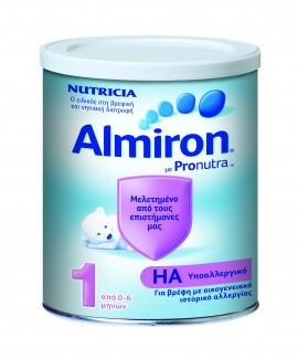 Nutricia Almiron HA 1 Υποαλλεργικό Γάλα 0-6 Μηνών, 400gr