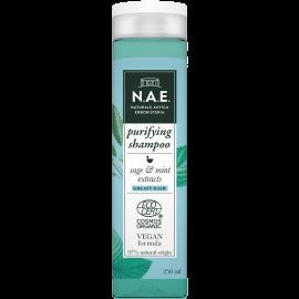 Ν.Α.Ε. Σαμπουάν για λιπαρά μαλλιά, Οργανική Πιστοποίηση COSMOS  & Vegan φόρμουλα, 250 ml