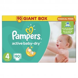 Pampers Active Baby Dry No4 Giant (8-14kg) 90Τμχ