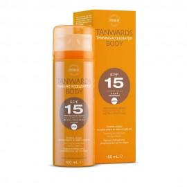 Synchroline Tanwards Tanning Accelerator Body SPF15, Κρέμα Επιτάχυνσης Μαυρίσματος Σώματος 150ml