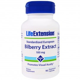 Life Extension Bilberry Extract, 100mg 90Veg. Caps