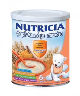 Nutricia Φαρίν Λακτέ Κρέμα με Μπισκότα 6+ Μηνών, 300gr