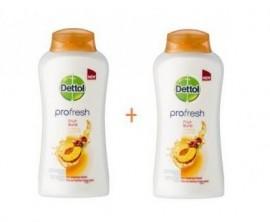 Dettol Profresh Fruit Burst 500ml, 1+1 ΔΩΡΟ, Κρεμοντούς Ουδέτερο pH για Αίσθηση Φρεσκάδας