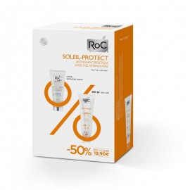 Roc Promo Soleil-Protect Anti-Shine Mattifying Fluid SPF30 50ml & Hydra+ Light Cream 40ml