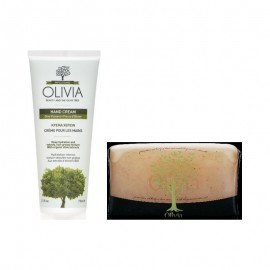 Olivia Promo Hand Cream Κρέμα Χεριών 75ml και Δώρο Glycerine Exfoliating Soap Απολεπιστικό Σαπούνι 125gr