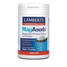 Lamberts MagAsorb 375mg Powder, Μαγνήσιο Υψηλής Απορρόφησης 165gr