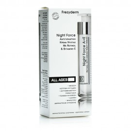 Frezyderm Night Force A + E Cream Αντιγηραντική Κρέμα Νυκτός με Ρετινόλη και Βιταμίνη Ε 50ml