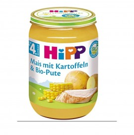 Hipp Γεύμα Καλαμπόκι με Πατάτες και Βιολογική Γαλοπούλα 4m+ 190gr