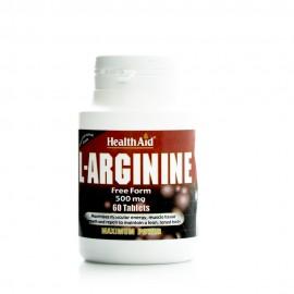 Health Aid L-Arginine 500mg, Αργινίνη 60 Tabs
