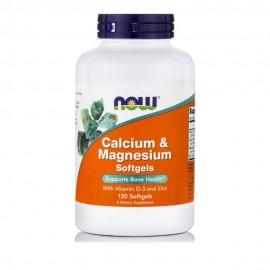 Now Foods Calcium & Magnesium 120 Μαλακές Κάψουλες
