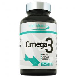 Confidence Omega 3 1000mg, για την Ομαλή Καρδιαγγειακή Λειτουργία, 90 μαλακές Caps (60+30 Δώρο)