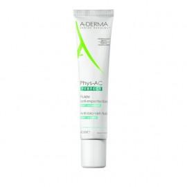 A-Derma Phys-AC Perfect Anti-Blemish Fluid, Λεπτόρευστη Κρέμα Κατά των Ατελειών/Σημαδιών 40ml