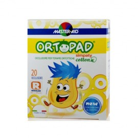 Master Aid Ortopad Regular Simpaty, Παιδικά Οφθαλμικά Αυτοκόλλητα 85x59mm 20τμχ, 4 Ετών+