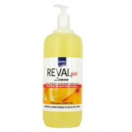 Intermed Reval Plus Antiseptic Hand Gel Lemon Αντιμικροβιακό Τζελ Χεριών 1Lt