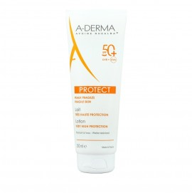 A-Derma Sun Protect Lotion Very High Protection SPF50+, Αντηλιακό Γαλάκτωμα Σώματος 250ml