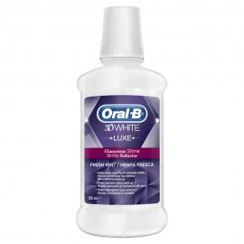 Oral-B 3D White Luxe, Στοματικό Διάλυμα για Λευκά Δόντια με Γεύση Μέντα 500ml