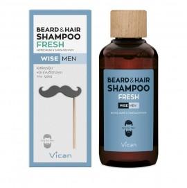 Vican Wise Men Beard & Hair Shampoo Fresh Σαμπουάν για τα Mαλλιά και τη Γενειάδα 200ml