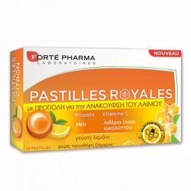 Forte Pharma Pastilles Royales, Παστίλιες με Πρόπολη και Γεύση Λεμόνι για τον Πονόλαιμο 24τμχ