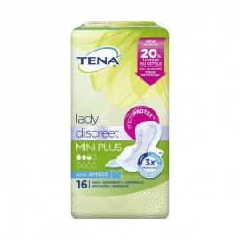 Tena Lady Discreet Mini Plus Wings 8X16