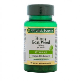 Nature's Bounty Horny Goat Weed 250mg με Μάκα για Τόνωση της Σεξουαλικής Υγείας 60 Κάψουλες