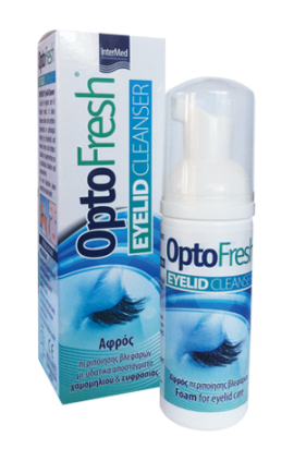 Intermed Optofresh Eyelid Cleanser Αφρός Περιποίησης & Καθαρισμού Βλεφάρων 50ml