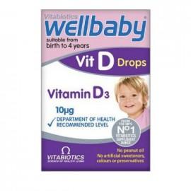 Vitabiotics Wellbaby Vit D drops Vitamin D3 10mg 30ml