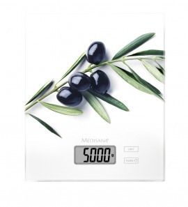 Medisana KS 210 (Ελιά) Ψηφιακή Γυάλινη Ζυγαριά Κουζίνας έως 5kg/5.000ml