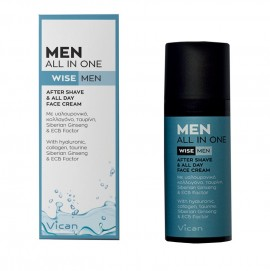 Vican Men All In One After Shave & All Day Face Cream 50ml