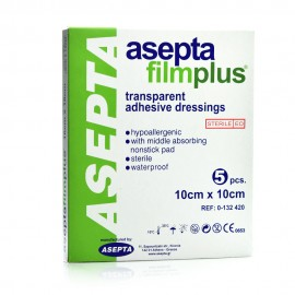 Asepta Filmplus, Διαφανή Αυτοκόλλητα Επιθέματα 10cm x 10cm 5τμχ