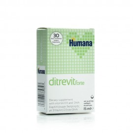 Humana Ditrevit Forte, Συμπλήρωμα Διατροφής από Γέννηση, με D3 & DHA, 15ml