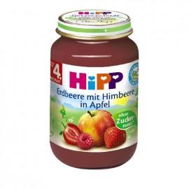 Hipp Φρουτόκρεμα Μήλο με Φράουλα και Βατόμουρο 190g