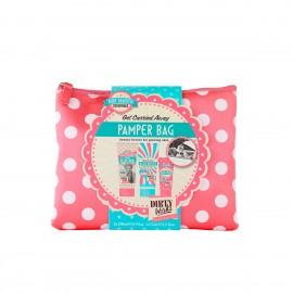 Dirty Works Pamper Bag, Body Wash 200ml & Body Butter 200ml & Hand Cream 75ml