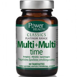 Power Health Classics Platinum Multi+Multi Time Πολυβιταμίνη Βραδείας Αποδέσμευσης 30Tabs