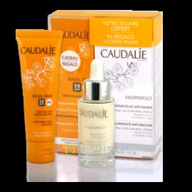 Caudalie Vinoperfect Radiance Serum Complexion Correcting 30ml & Soleil Divin Anti-Ageing Face Suncare SPF50, 40ml