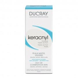 Ducray Keracnyl Masque Triple Action, Μάσκα για Λιπαρό Δέρμα με Ατέλειες 40ml