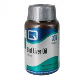 Quest Cod Liver Oil 1000mg με Βιταμίνες Α και D 30caps