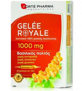 Forte Pharma Gelee Royale, Φυσικό Τονωτικό Συμπλήρωμα Βασιλικού Πολτού, 1000mg 20amp x 10ml