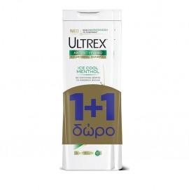 Ultrex Shampoo Ice Cool Menthol, Γυναικείο Αντιπιτυριδικό Σαμπουάν Κανονικά Μαλλιά 400ml 1+1 ΔΩΡΟ
