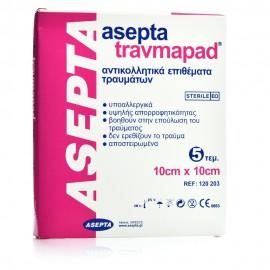 Asepta Travmapad, Επιθέματα Τραύματος Αντικολλητικά 10cm x 10cm 5τμχ.